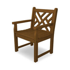 POLYWOOD® Chippendale Collection Arm Chair - Teak