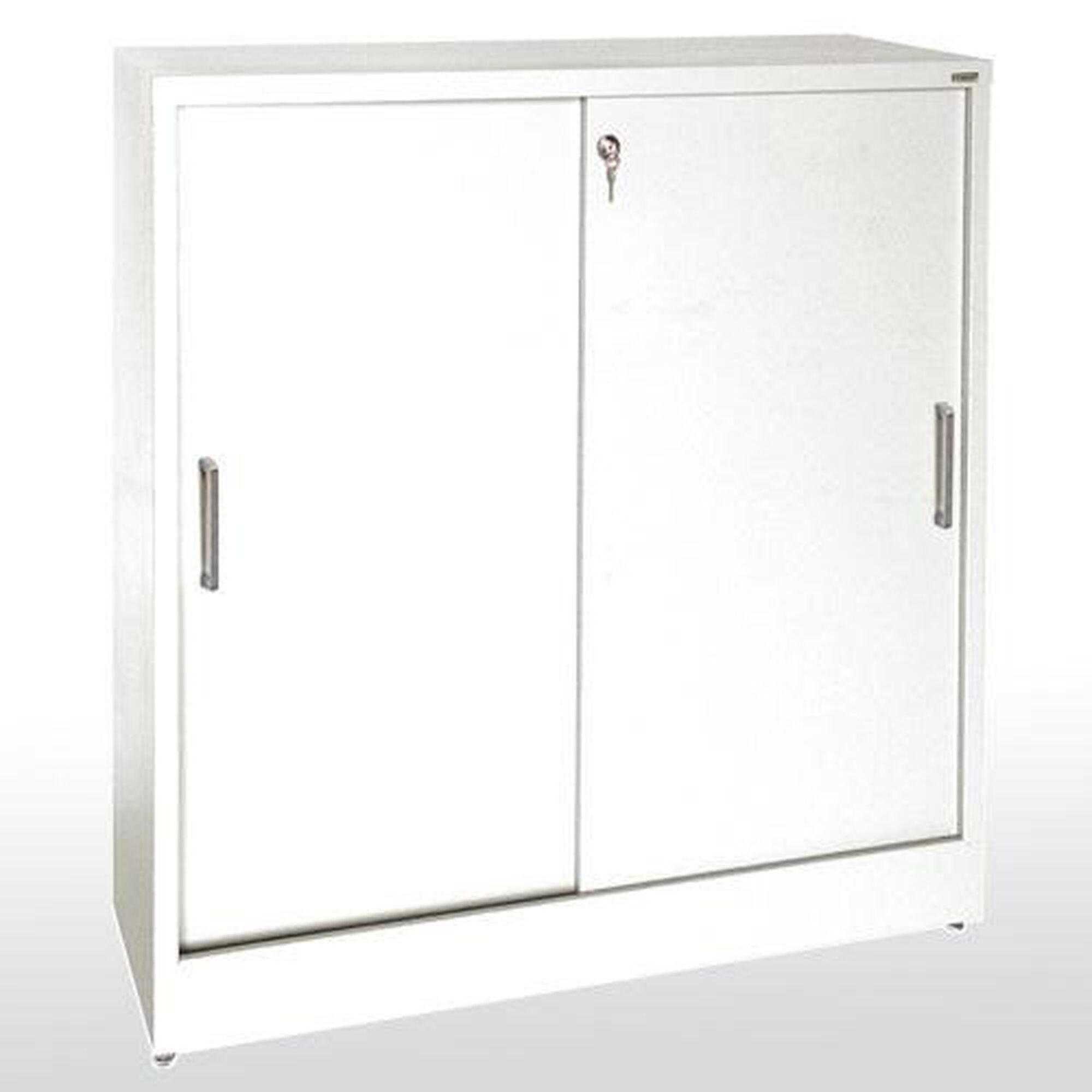 Elite Series 36 W X 18 D 42 H Counter Height Sliding Door Storage Cabinet