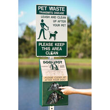 Reflective Aluminum On Leash Pet Sign