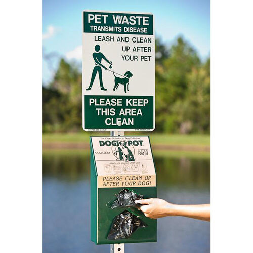 Our Reflective Aluminum On Leash Pet Sign is on sale now.