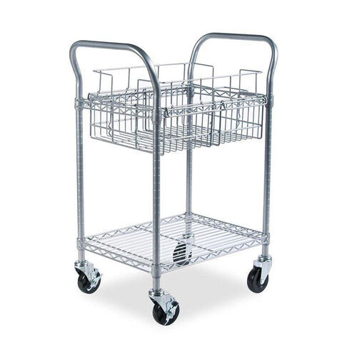 Our Safco® Wire Mail Cart - 600-lb Cap - 18-3/4w x 26-3/4d x 38-1/2h - Metallic Gray is on sale now.