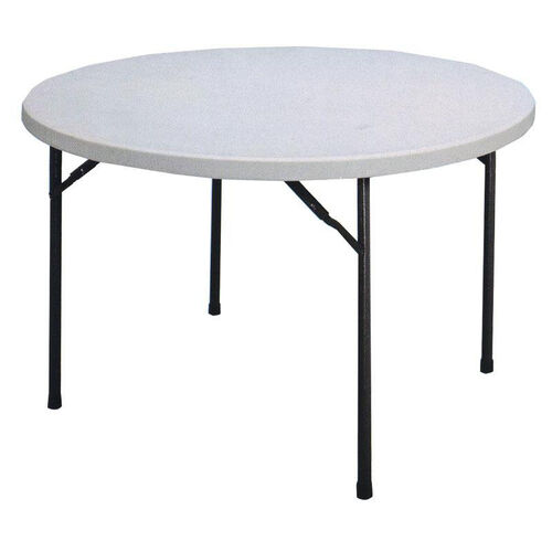 Our Economy Blow-Molded Round Plastic Top Folding Table - 48
