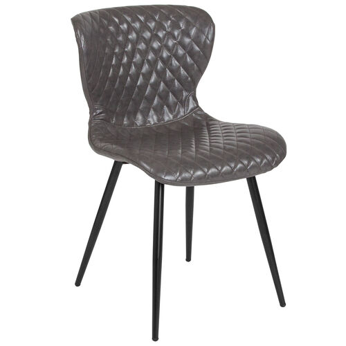 Our Bristol Contemporary Upholstered Chair in Gray Vinyl is on sale now.