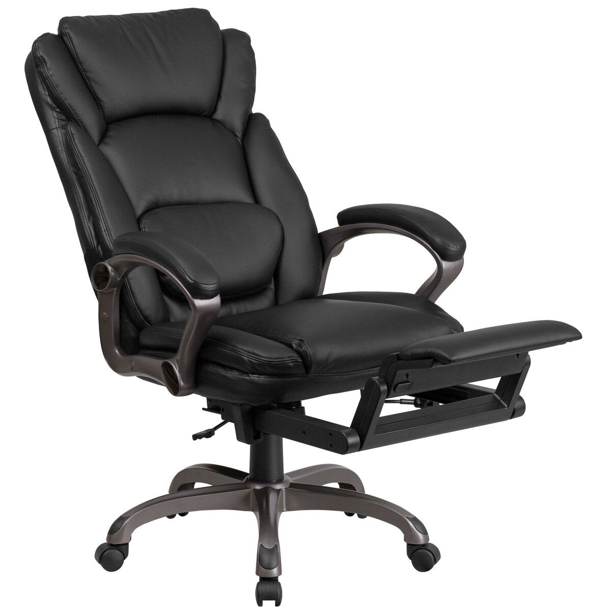 Images High Back Black Leather Executive Reclining Swivel Chair