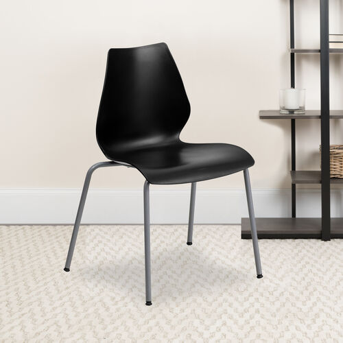 Our HERCULES Series 770 lb. Capacity Stack Chair with Lumbar Support and Silver Frame is on sale now.