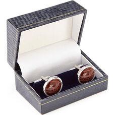 Luxury Handcrafted Cufflinks - Genuine Alligator - Brown