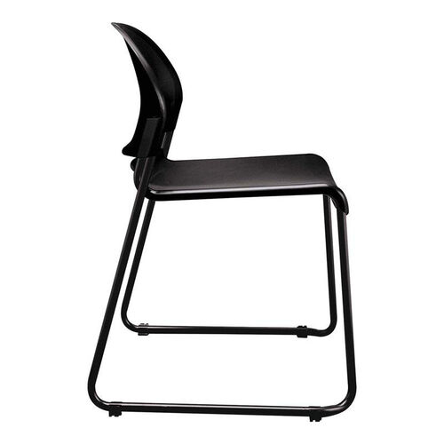 Our HON® GuestStacker Series Chair - Charcoal with Black Finish Legs - 4/Carton is on sale now.