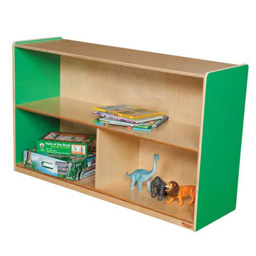Our Green Apple Versatile Single Plywood UV Finished Storage Unit with Rolling Casters - Assembled - 48