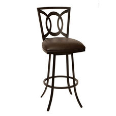 Drake Auburn Bay Finish Swivel Stool with Leatherette Seat - Coffee