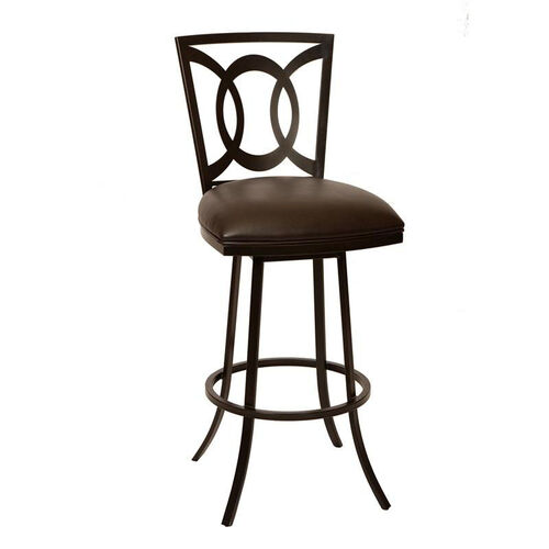Our Drake Auburn Bay Finish Swivel Stool with Leatherette Seat - Coffee is on sale now.