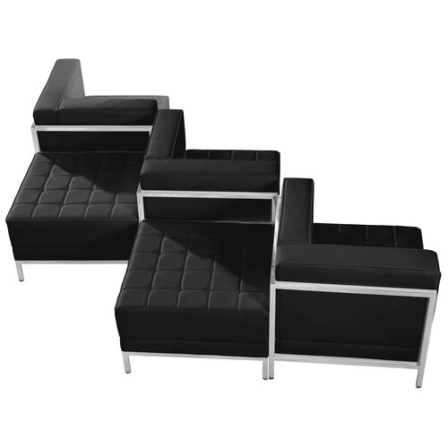Our HERCULES Imagination Series Black LeatherSoft 5 Piece Chair & Ottoman Set is on sale now.