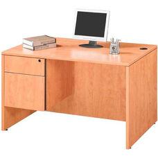 Honey Single Pedestal Desk