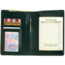 Things To Do Passport Wallet - Top Grain Nappa Leather - Black