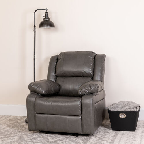 Our Harmony Series Gray LeatherSoft Recliner is on sale now.