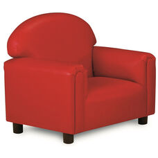 Just Like Home Preschool Size Overstuffed Vinyl Chair - Red - 26