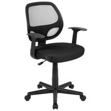 Basics Mid-Back Mesh Swivel Ergonomic Task Office Chair with Arms, Black, BIFMA Certified