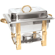 4 Quart Gold Accented Chafer