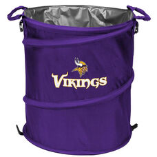 Minnesota Vikings Team Logo Collapsible 3-in-1 Cooler Hamper Wastebasket