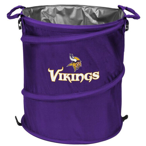 Our Minnesota Vikings Team Logo Collapsible 3-in-1 Cooler Hamper Wastebasket is on sale now.