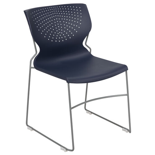 Our HERCULES Series 661 lb. Capacity Navy Full Back Stack Chair with Gray Powder Coated Frame is on sale now.
