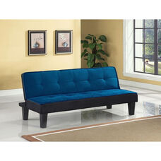 Hamar Adjustable Sofa with Tufted Fabric Seat and Back - Blue