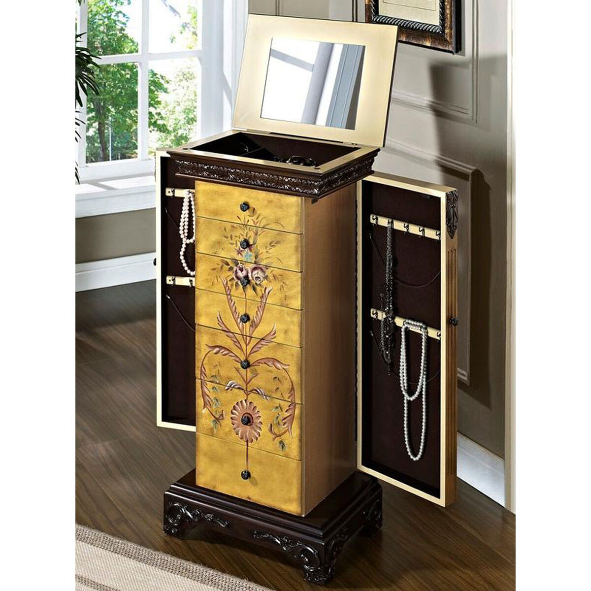 Hand Painted Jewelry Armoire 582 314 Bizchair Com