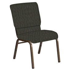 Embroidered 18.5''W Church Chair in Amaze Willow Fabric - Gold Vein Frame