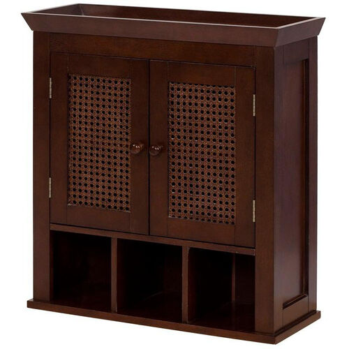 Our Cane Wall Cabinet with Two Doors and Cubbies - Espresso is on sale now.