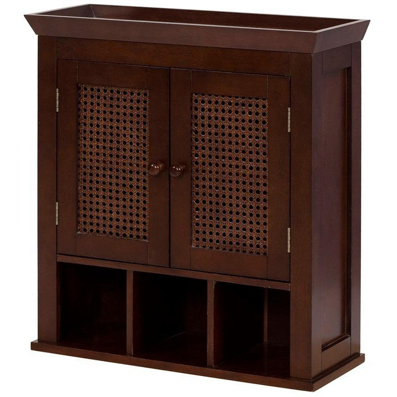 ... Our Cane Wall Cabinet With Two Doors And Cubbies   Espresso Is On Sale  Now.