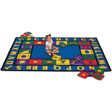 Bilingual Spanish/English Words Rectangular Nylon Rug - 70