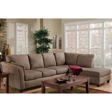 Broome Contemporary Style Polyester 2 Piece Sectional - Glacier Dark Brown