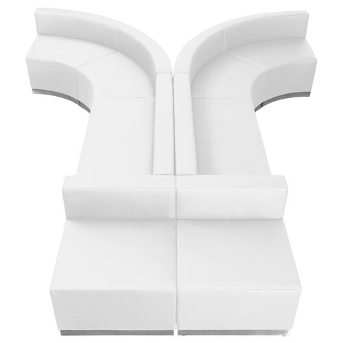 Our HERCULES Alon Series Melrose White LeatherSoft Reception Configuration, 8 Pieces is on sale now.