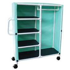 Combo Cart with 4 Shelves and Mesh Cover with Casters - 20