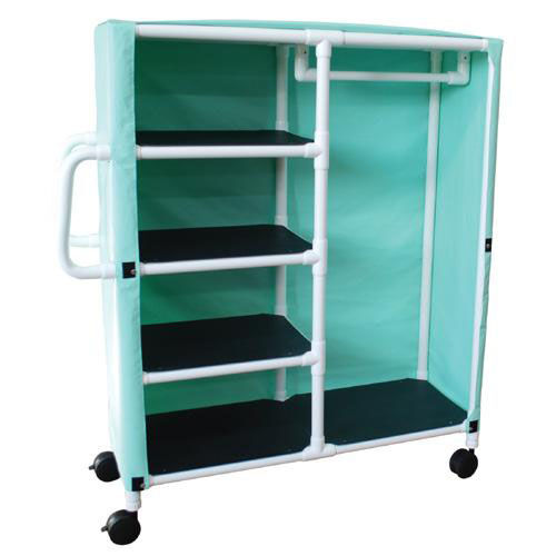 Our Combo Cart with 4 Shelves and Mesh Cover with Casters - 20