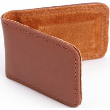 Magnetic Money Clip - Top Grain Nappa Leather - Tan