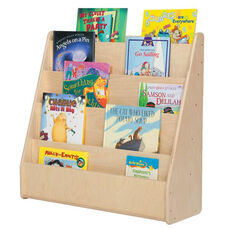 Single Sided Baltic Birch Plywood Book Display with Tuff-Gloss UV Finish - Assembled - 30''W x 11''D x 29''H
