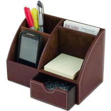 Leather Desktop Organizer - Mocha