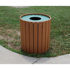 Standard Round 32 Gallon Recycled Plastic Receptacle