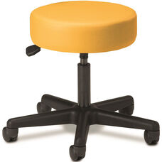Pneumatic Adjustable Medical Stool - Yellow with Black Base