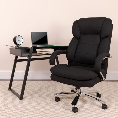 Our HERCULES Series 24/7 Intensive Use Big & Tall 500 lb. Rated Executive Swivel Ergonomic Office Chair with Loop Arms is on sale now.