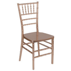 "HERCULES PREMIUM Series Rose Resin Stacking Chiavari Chair with <span style=""color:#0000CD;"">Free </span> Cushion"