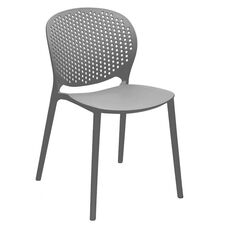 Muut Dark Grey Modern Stackable Side Chair - Set of 4