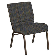 Embroidered 21''W Church Chair in Canyon Sky Fabric - Gold Vein Frame