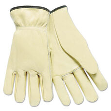 Memphis™ Full Leather Cow Grain Driver Gloves - Tan - Large - 12 Pairs