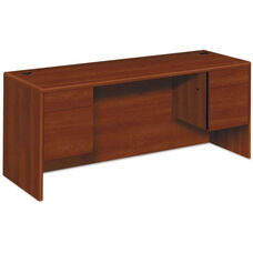HON® 10500/10700 Series Laminate Credenza with Kneespace and 3/4 Pedestals - 72