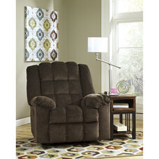 Signature Design by Ashley Ludden Power Rocker Recliner in Cocoa Twill