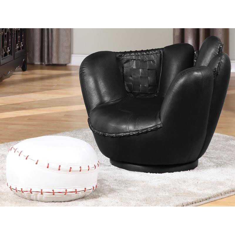 ... Our All Star 2 Piece 360u0026deg; Swivel Youth Mitt Chair With Baseball  Ottoman Is On