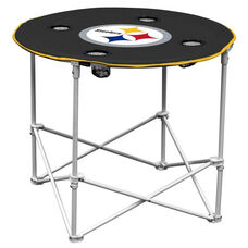 Pittsburgh Steelers Team Logo Round Folding Table