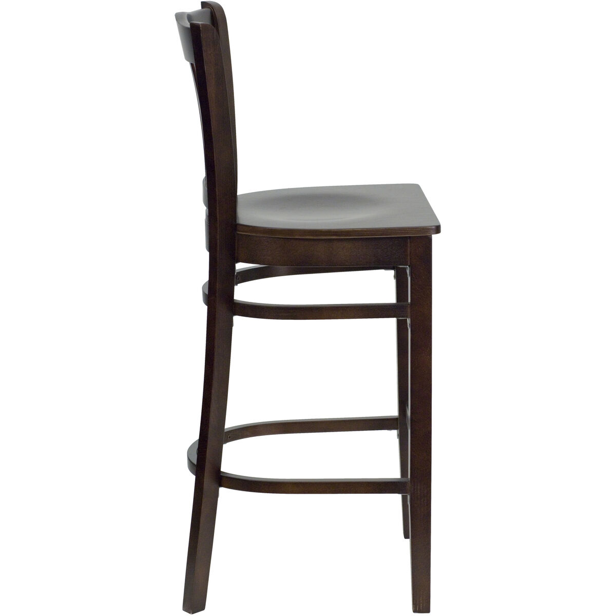 Walnut Wood Stool Bfdh 8242ww Bar Tdr Bizchair Com