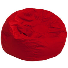 Oversized Solid Red Bean Bag Chair